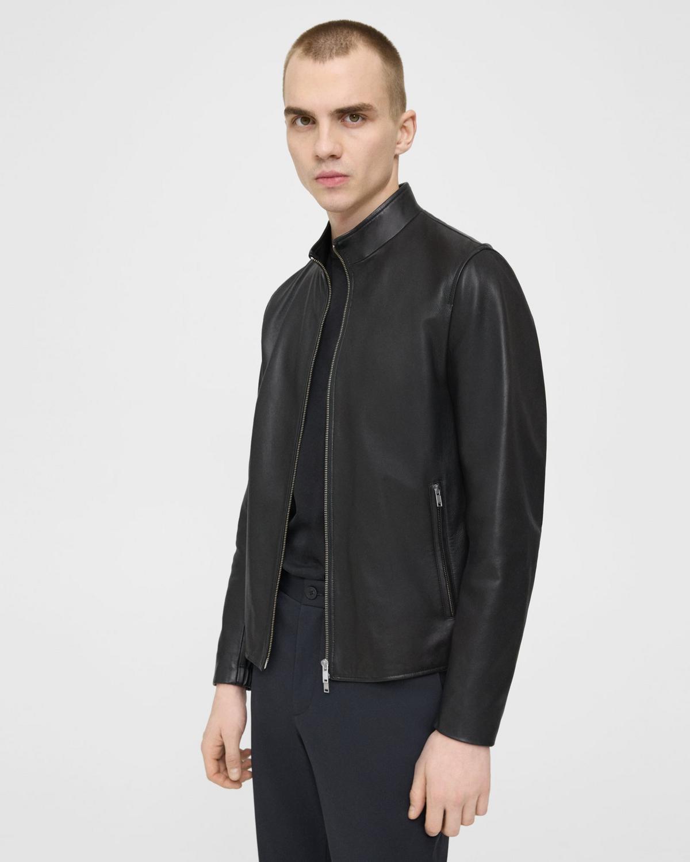 Theory mens Morvek Leather Jacket Leather Jacket