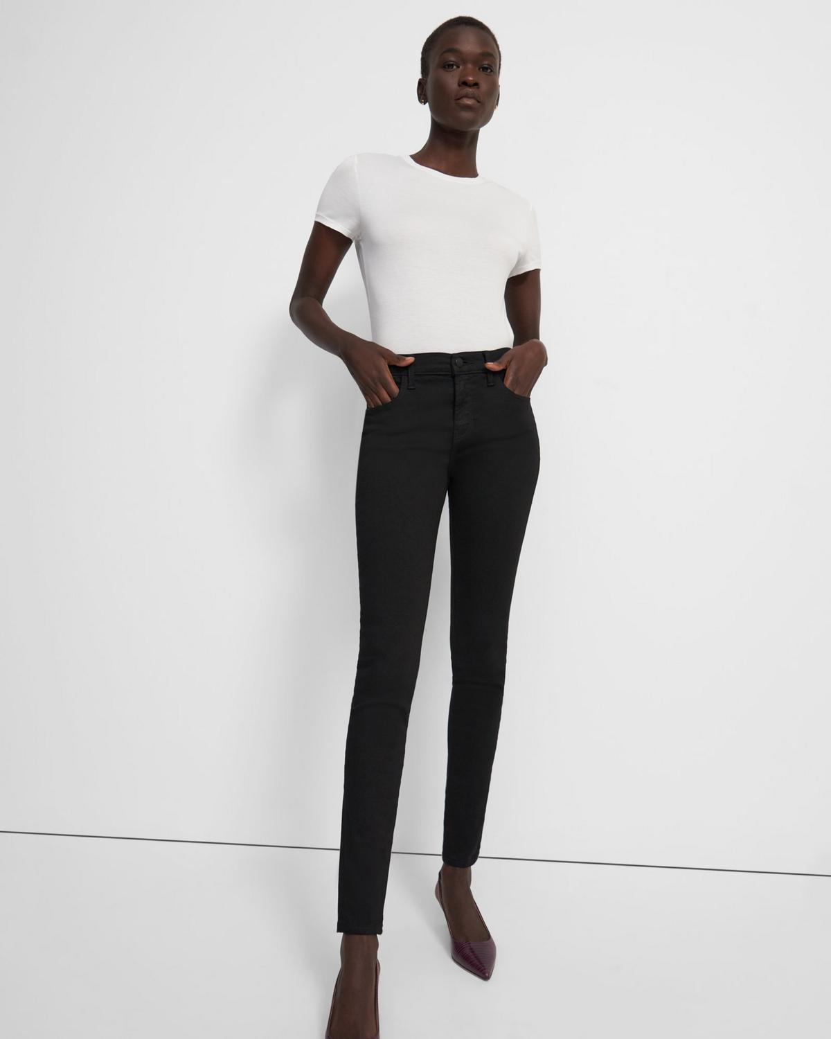 J Brand Sophia Mid-Rise Super Skinny Jean in Stretch Denim