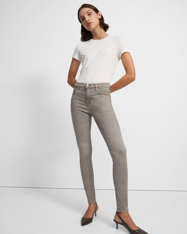 J Brand Maria High-Rise Skinny Jean in Stretch Denim