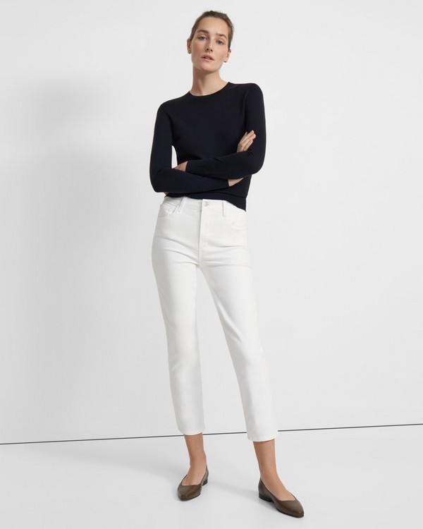 J Brand Alma High-Rise Straight Leg Jean in Stretch Denim