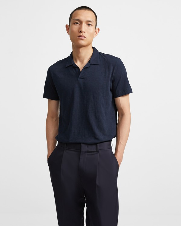 Cotton Open Collar Polo