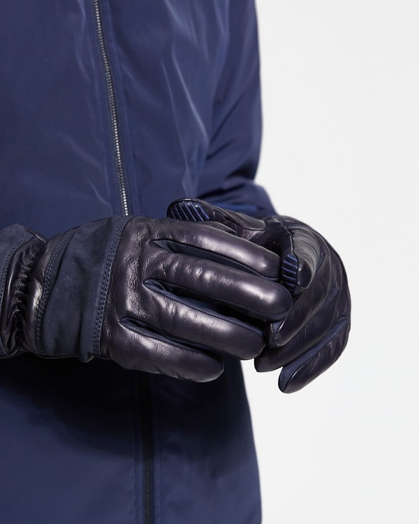 Theory Leather Downtown Gloves