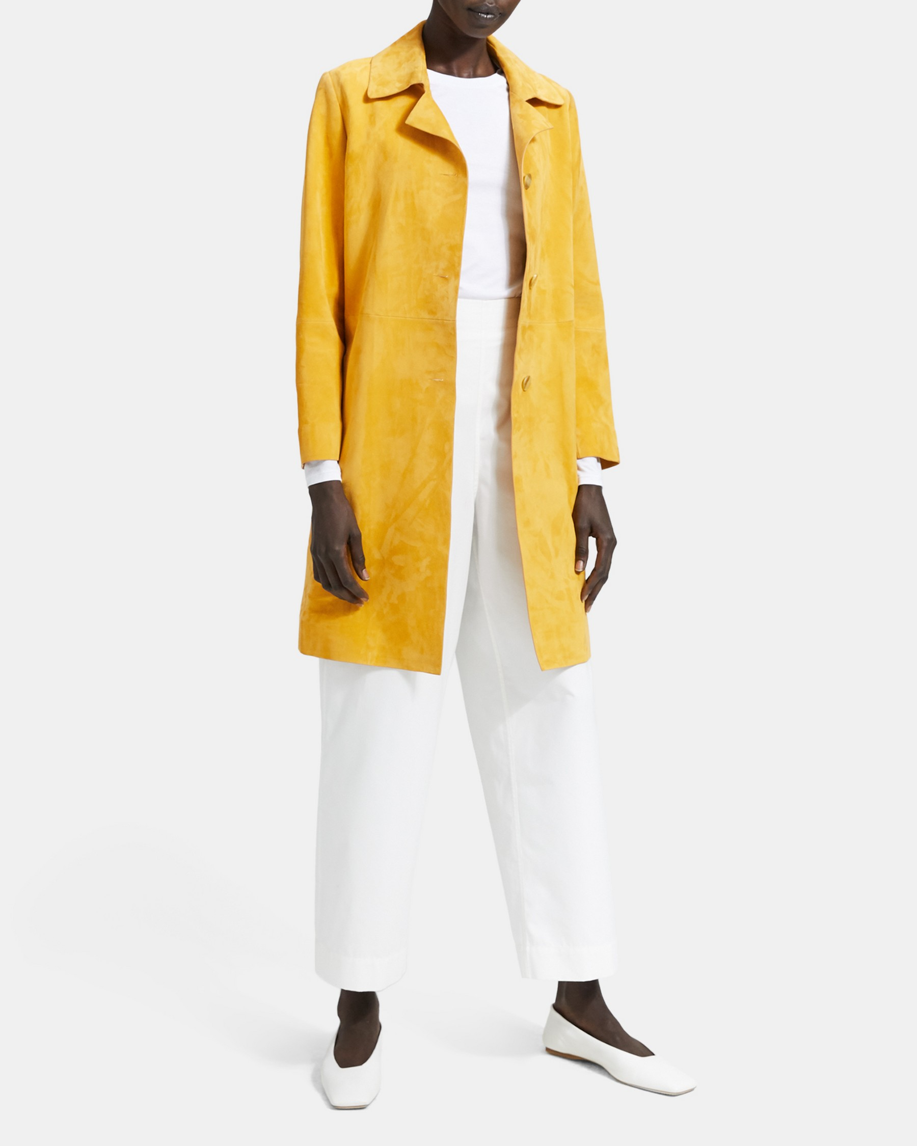 City Suede Piazza Coat   Theory