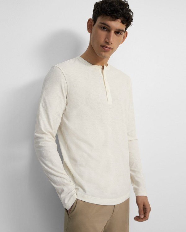 Essential Henley Tee in Slub Cotton