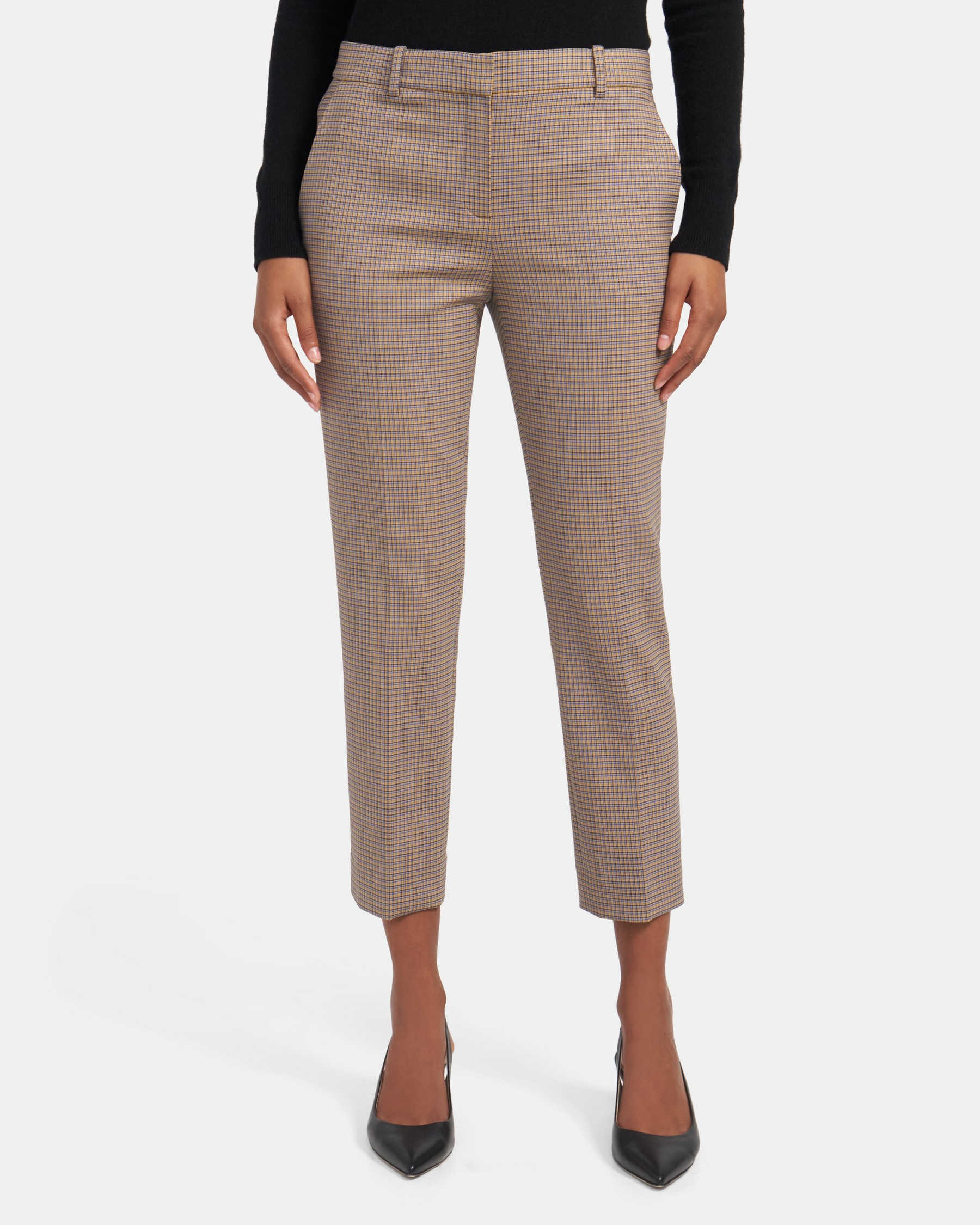 Slim Cropped Pant In Stretch Wool   Theory