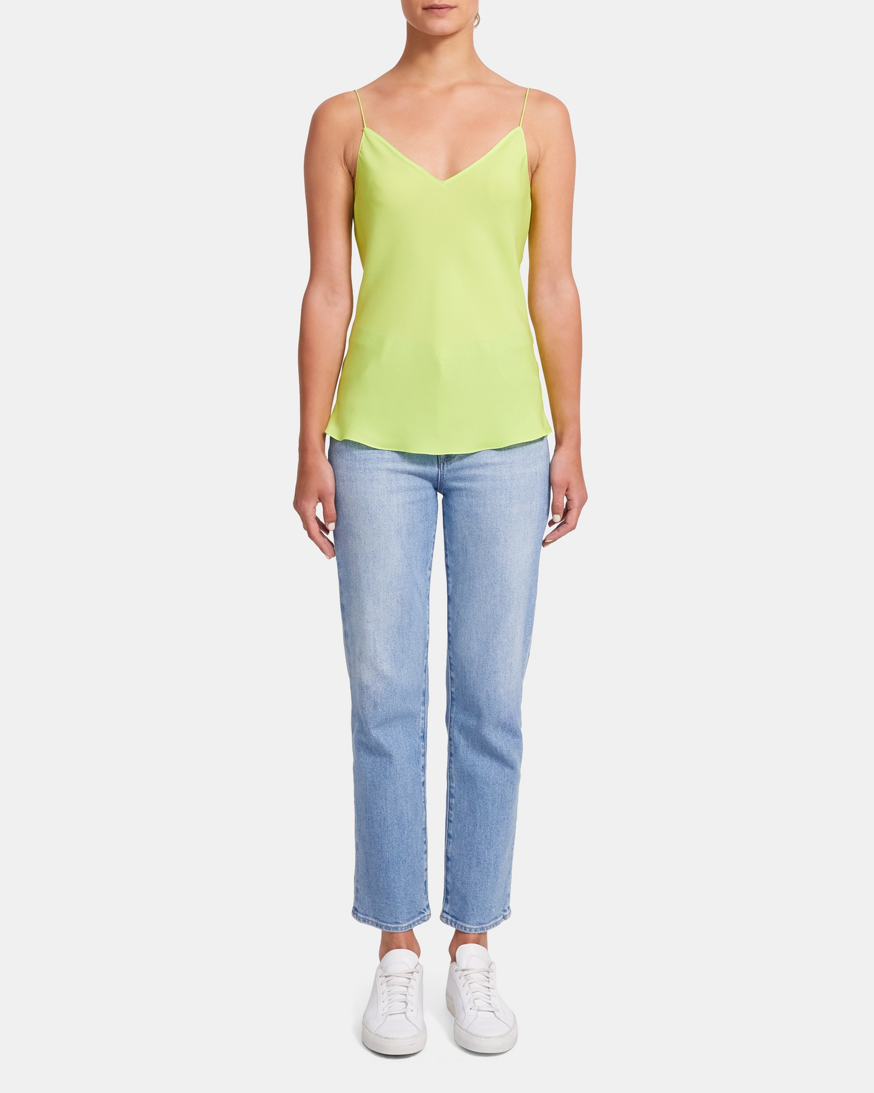 Neon Easy Slip Top in Silk   Theory