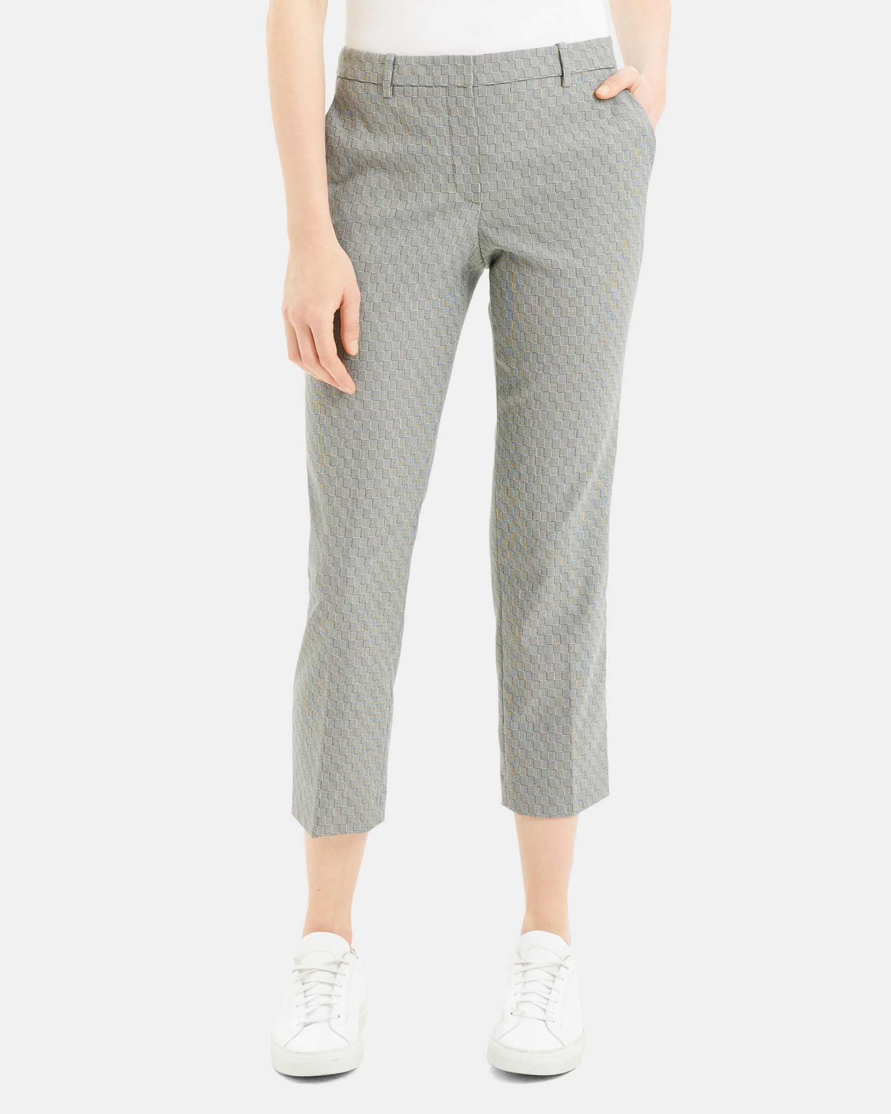 Tailored Trouser in Optical Wool   Theory