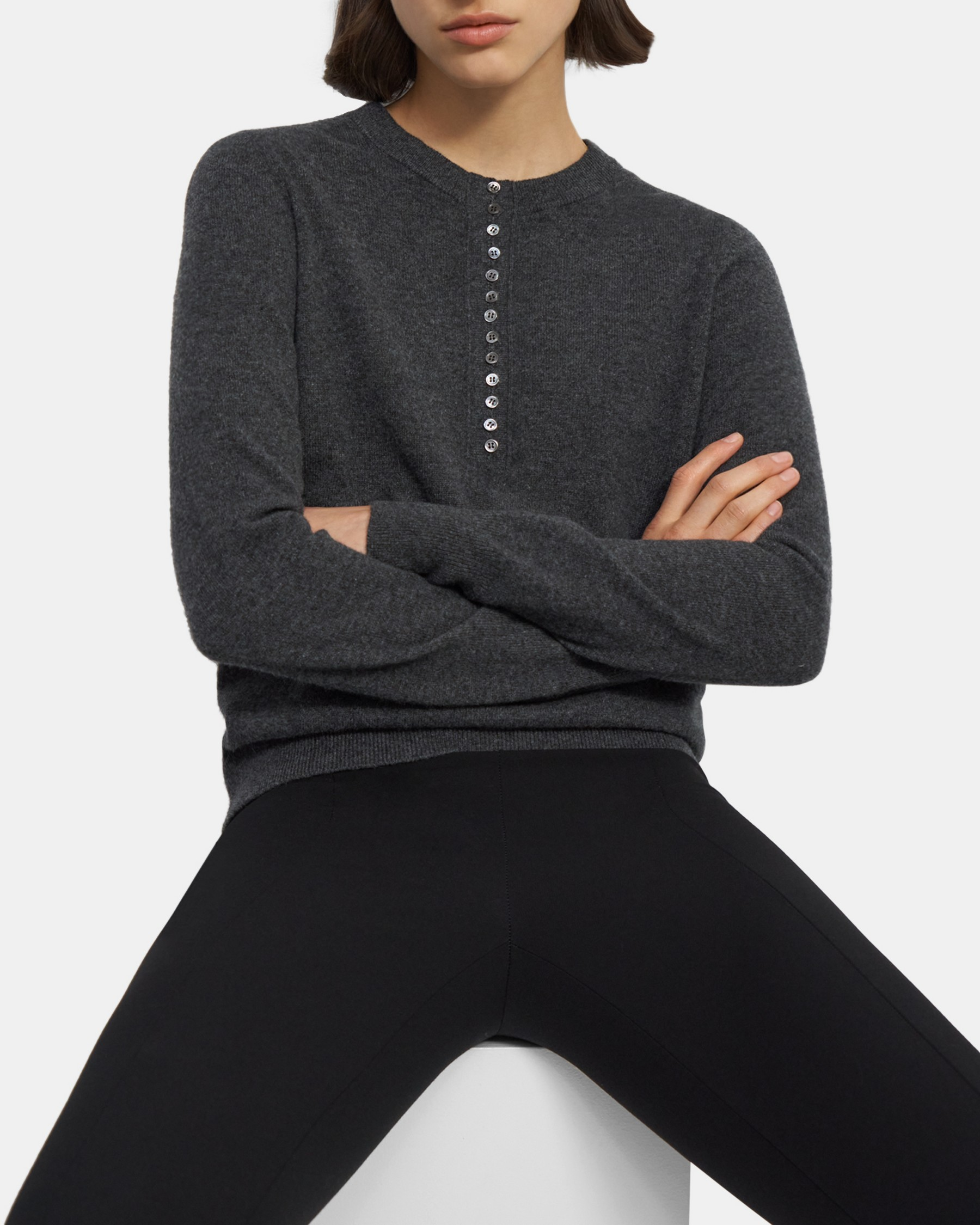 Henley Sweater in Cashmere   Theory