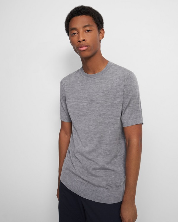 Basic Tee in Regal Wool