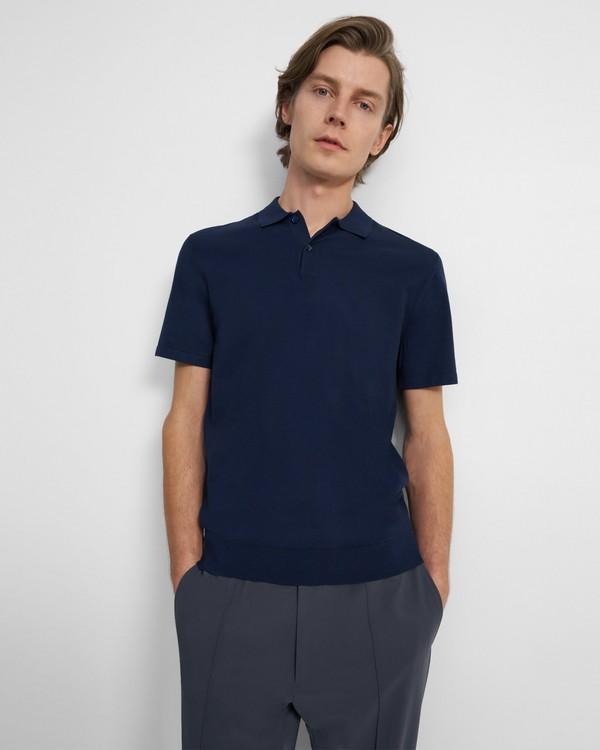 띠어리 폴로 셔츠 Theory Polo Shirt in Fine Bilen,ECLIPSE