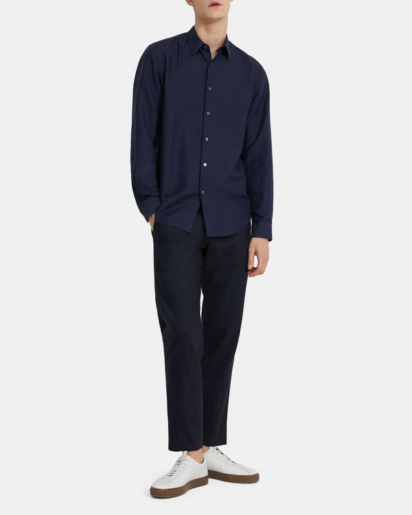 Standard-Fit Shirt in Essential Linen Twill