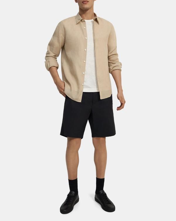 띠어리 셔츠 Theory Irving Shirt in Summer Linen,MUSLIN