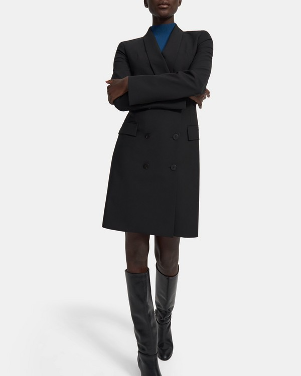 Shawl Blazer Dress in Good Wool