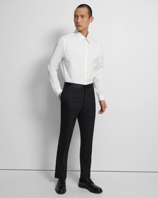 Theory Mayer Tuxedo Pant in Stretch Wool