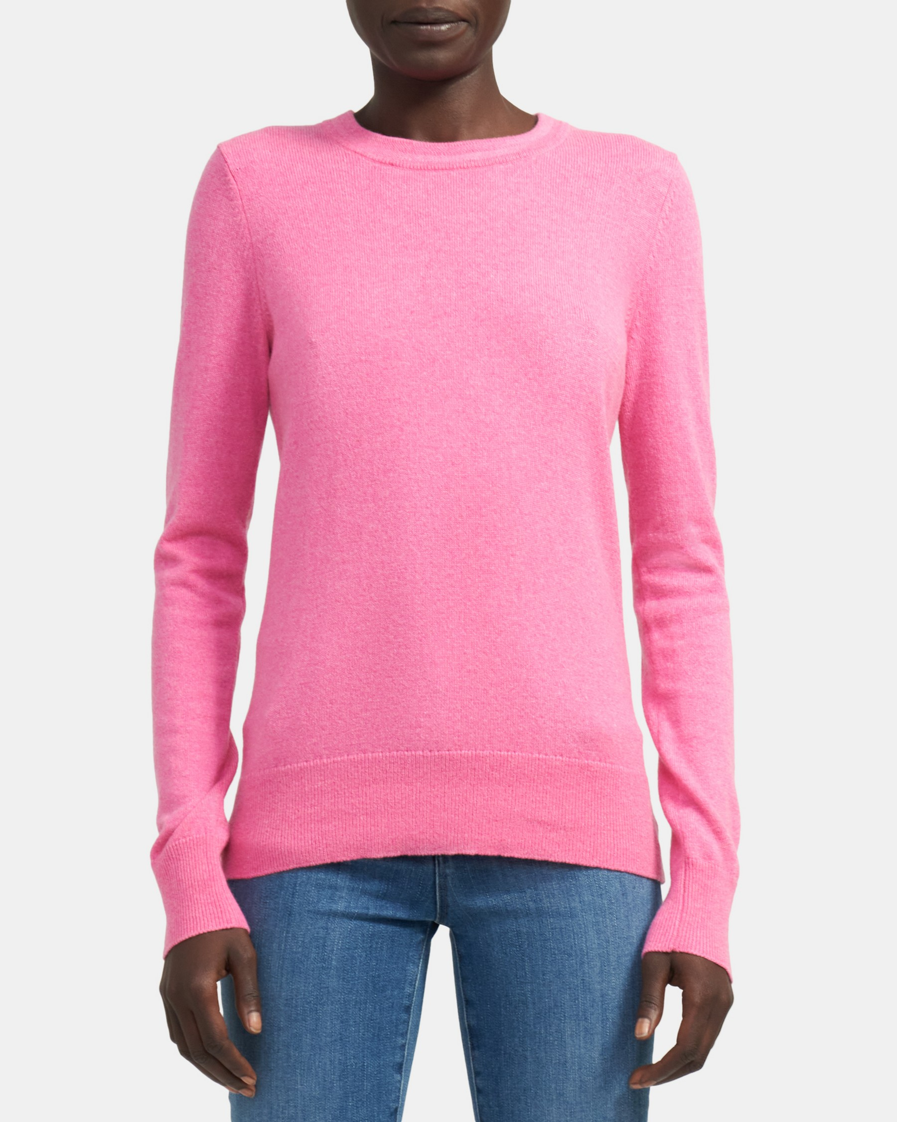 Cashmere Knit Long-Sleeve Tee   Theory
