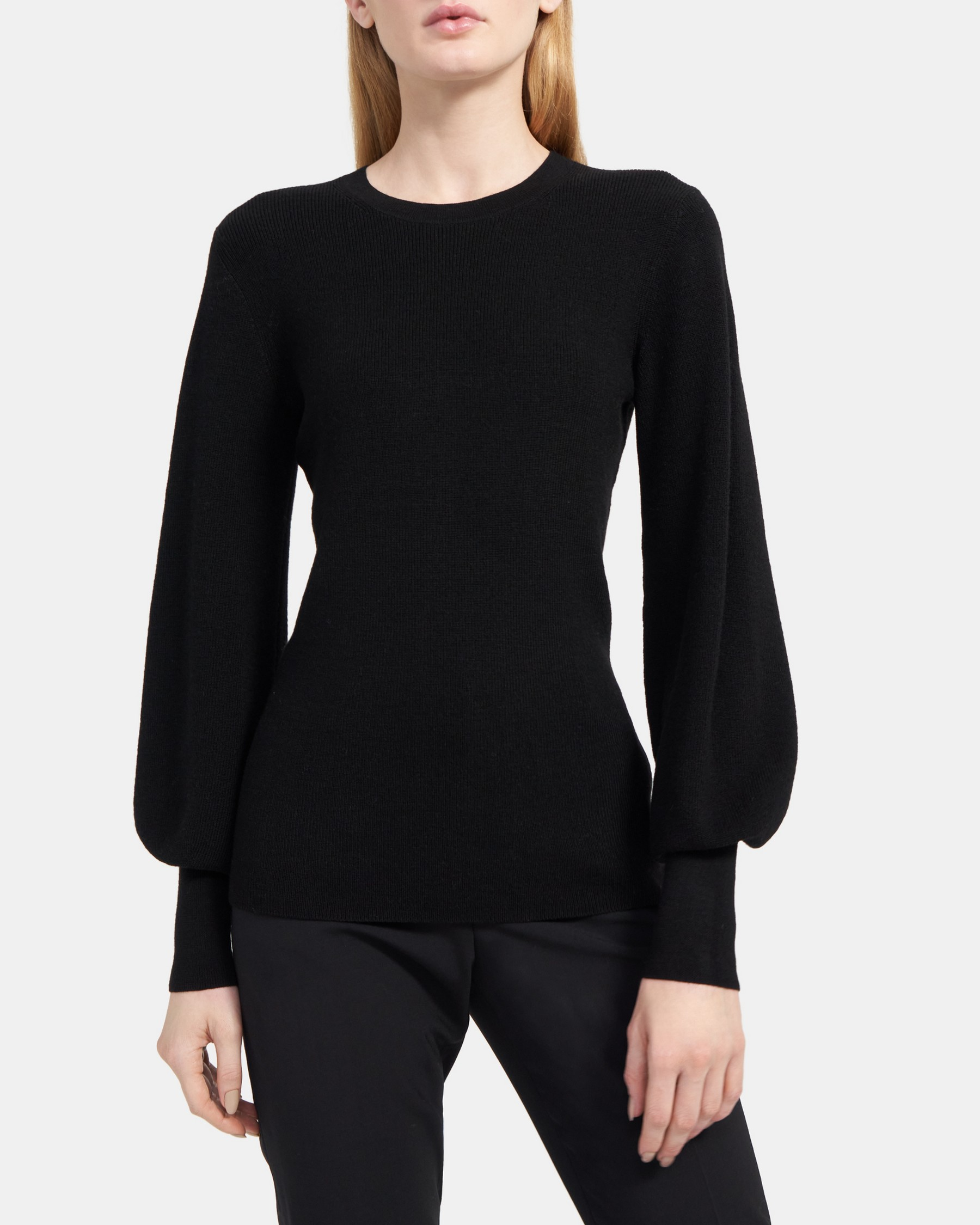 Crewneck Sweater in Stretch-Wool   Theory