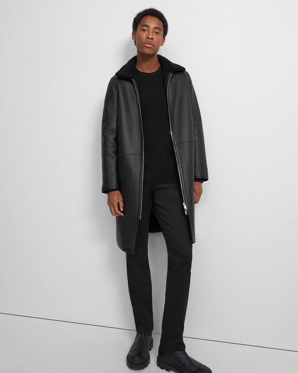 Wilkens Reversible Coat in Shearling