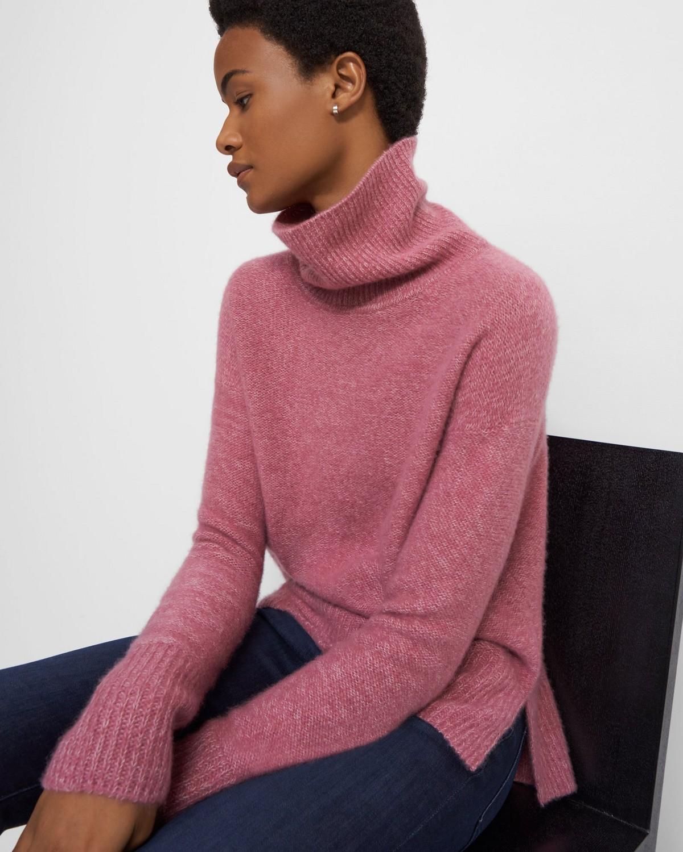 Theory Womens Cashmere Turtleneck Sheath Sweaterdress BHFO 3592