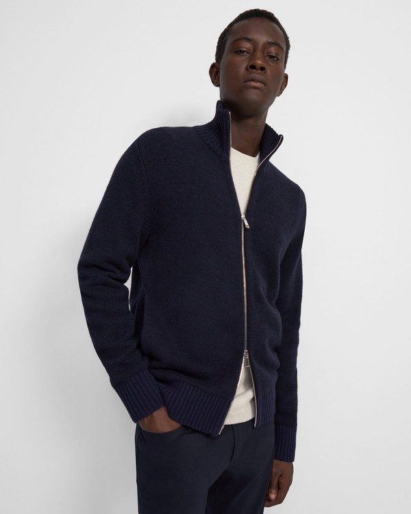 Sweater Jacket in Wool-Cashmere