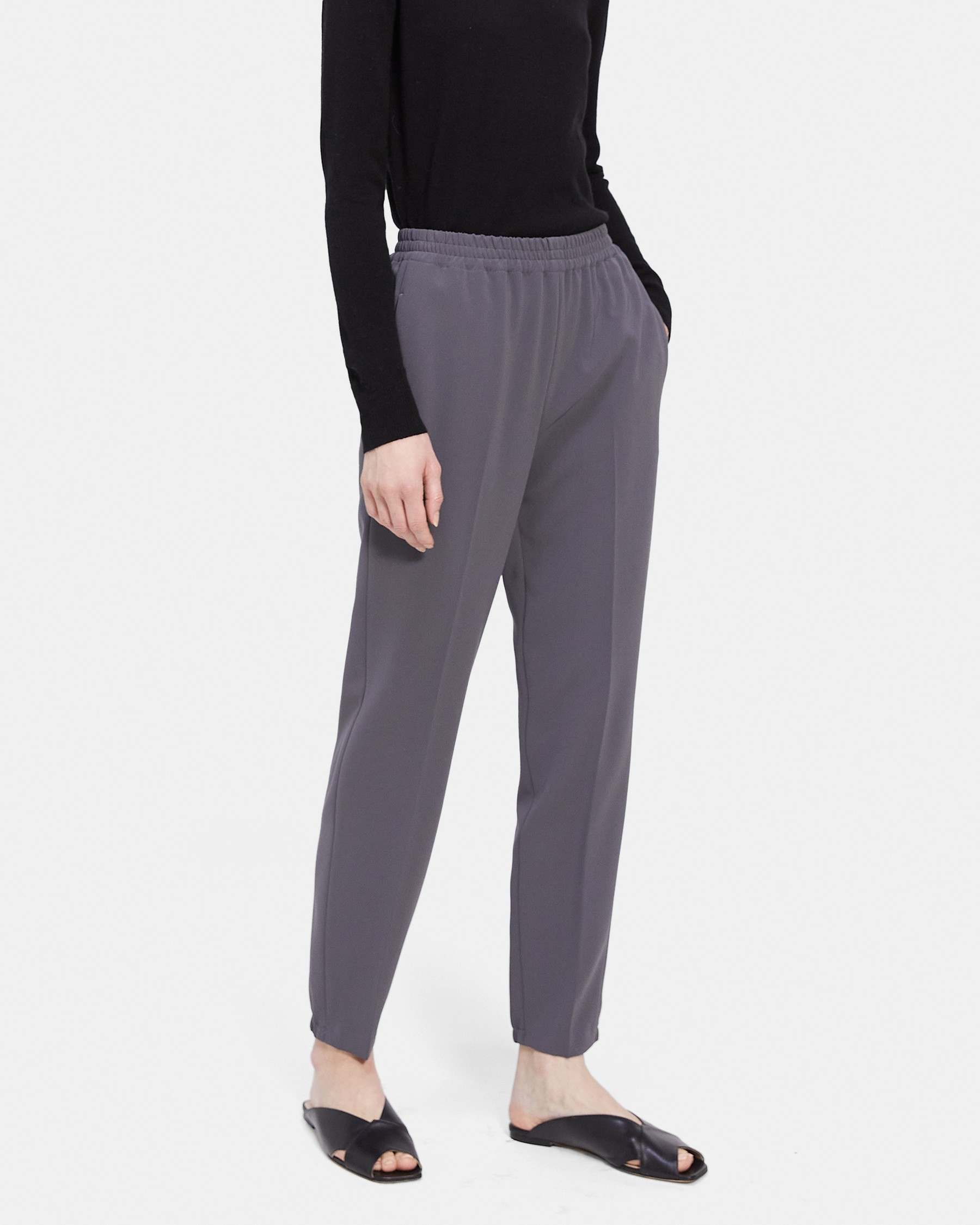 Easy Jogger Pant in Crepe   Theory