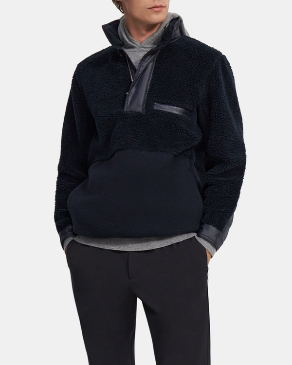 Quarter-Zip Pullover in Sherpa