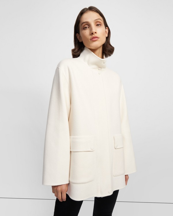 Utility Coat in Double-Face Wool-Cashmere