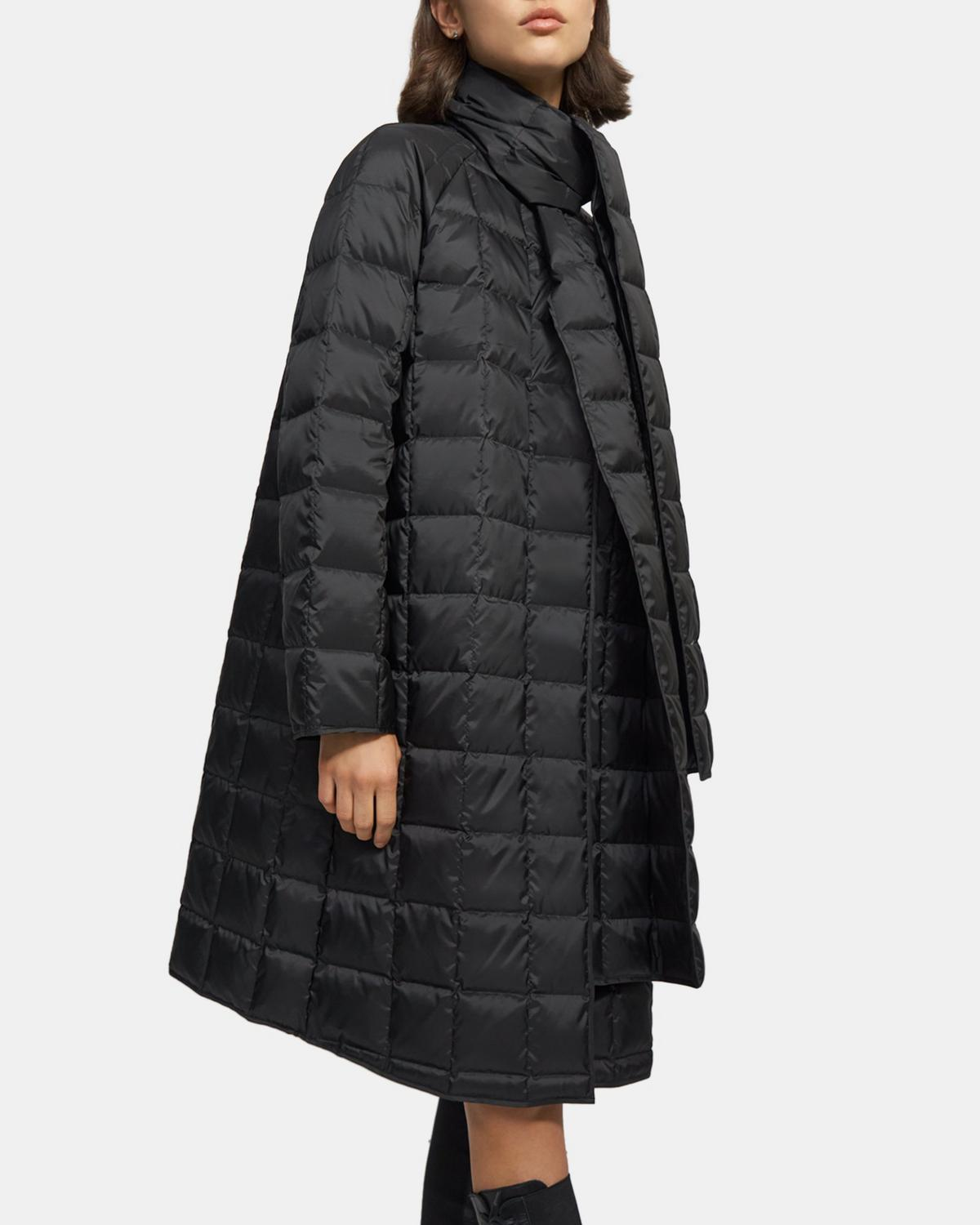 Scarf Puffer Coat in Quilted Down