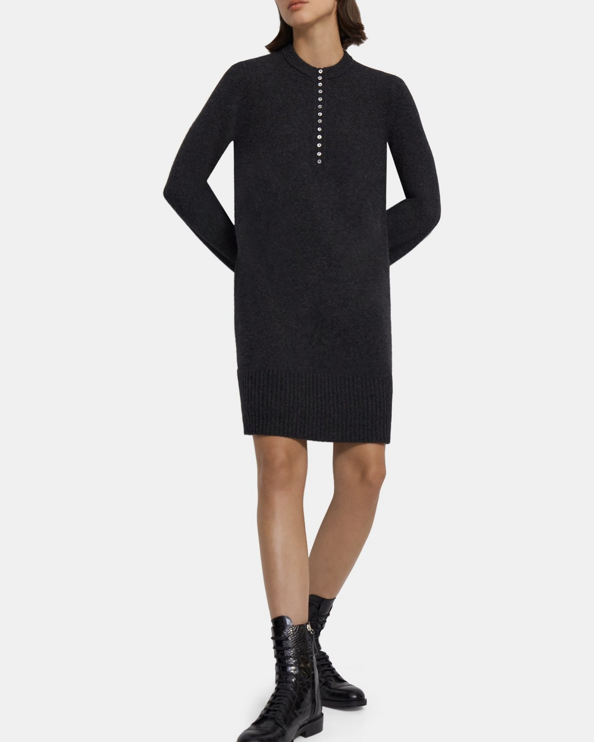 Henley Dress in Cashmere