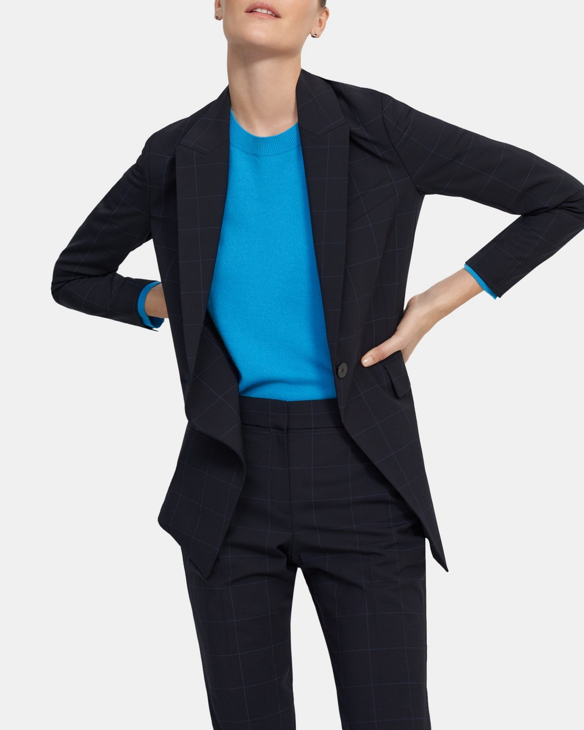 Etiennette Blazer in Grid Good Wool