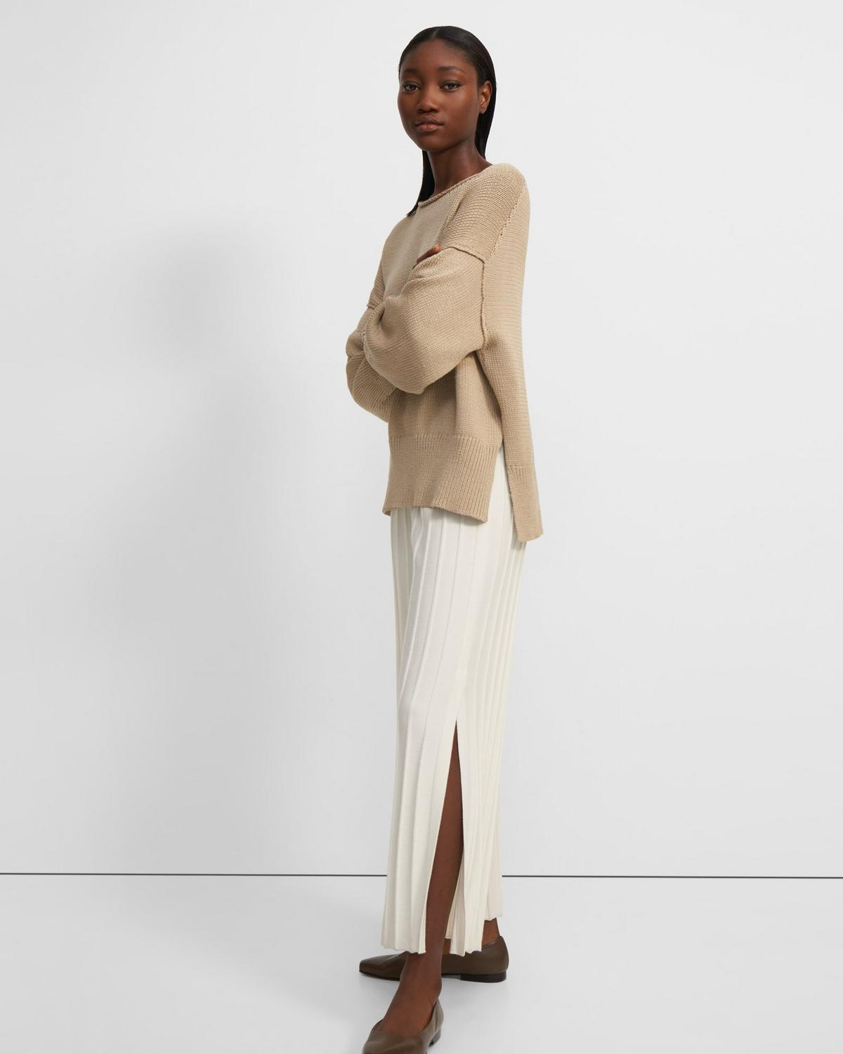 Wide Ribbed Pant in Empire Wool