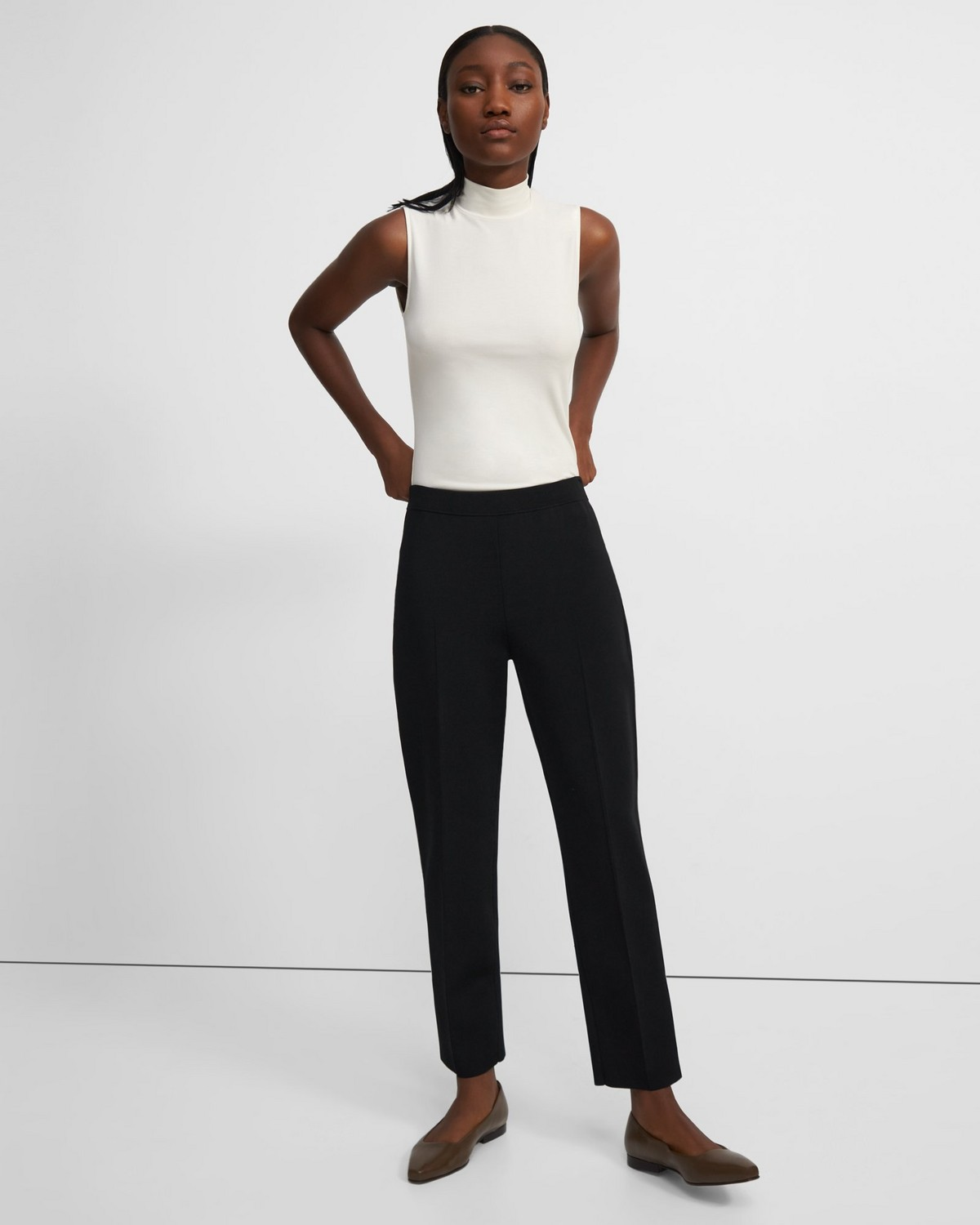 Treeca Pull-On Pant in Stretch Knit
