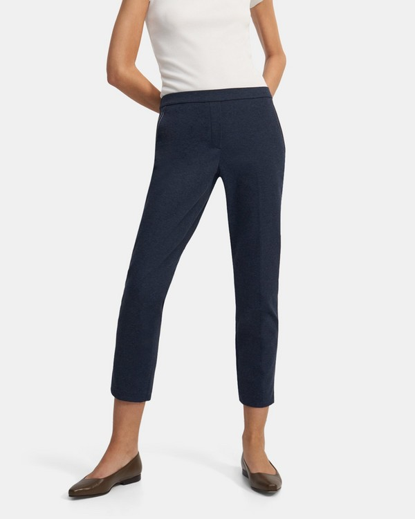 Treeca Pull-On Pant in Denim Stretch Knit