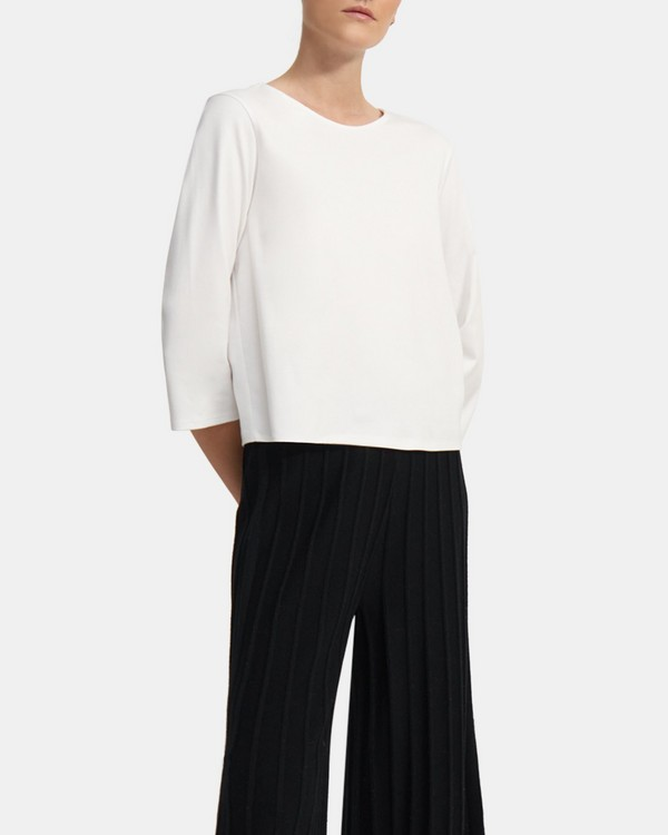 Square Tee in Cotton Jersey