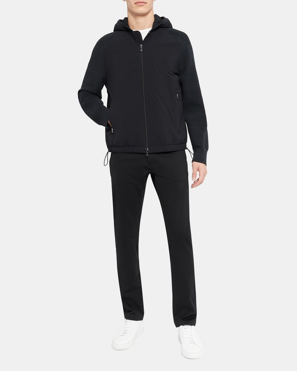 Hooded Bomber Jacket in Precision Tech