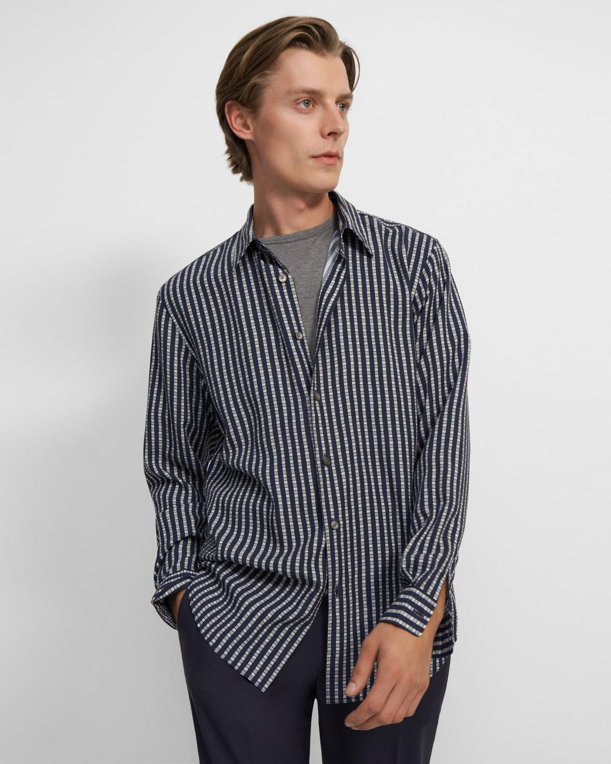 Shirt in Checked Lyocell