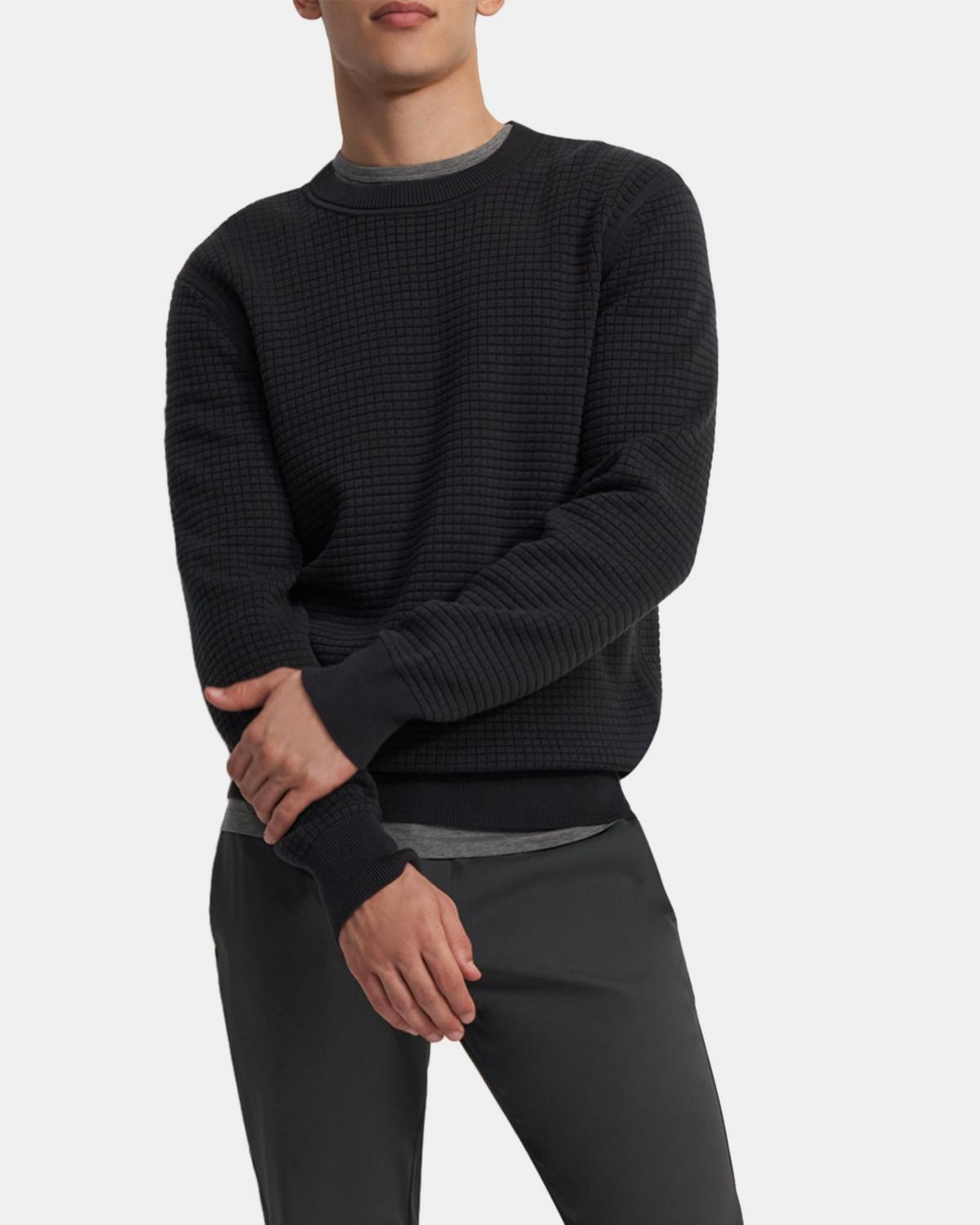 Waffle-Knit Sweater in Organic Cotton