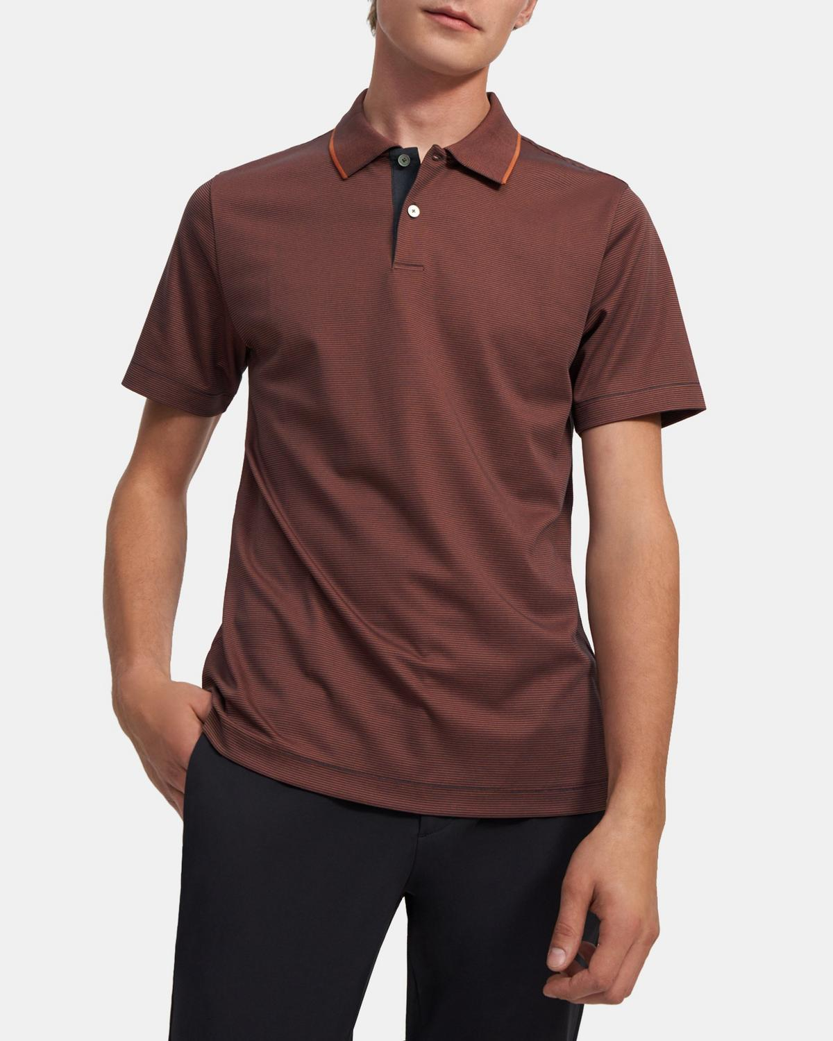 Standard Polo Shirt in Striped Cotton