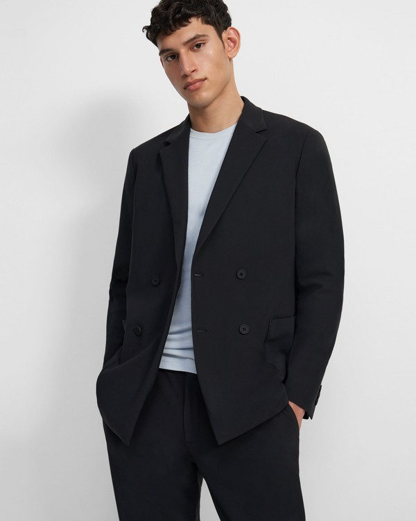 Clinton Double-Breasted Blazer in Precision Ponte