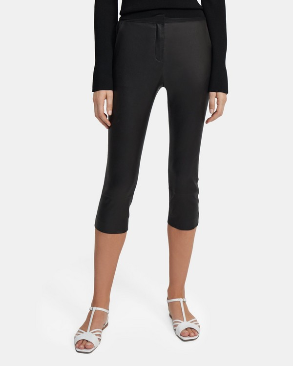 Easy Capri Pant in Leather