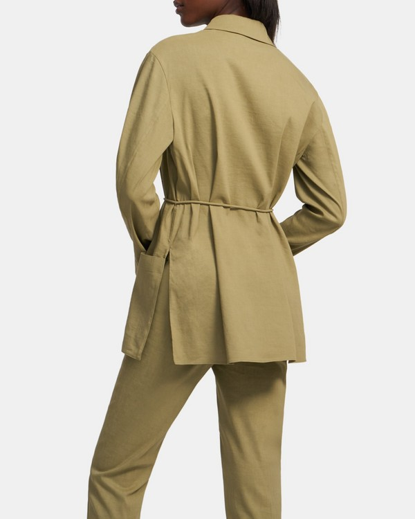 Shirt Jacket in Good Linen