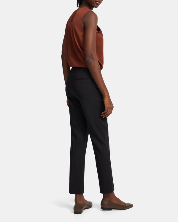 Treeca Side Zip Pant in Good Linen