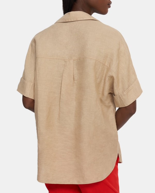 Button Up Shirt in Spring Linen
