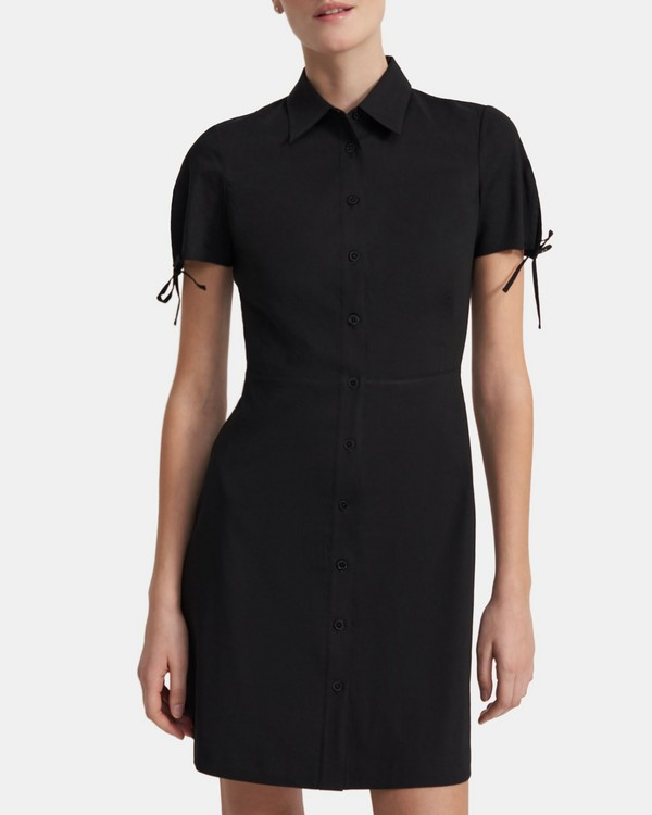 Fitted Shirt Dress in Good Linen