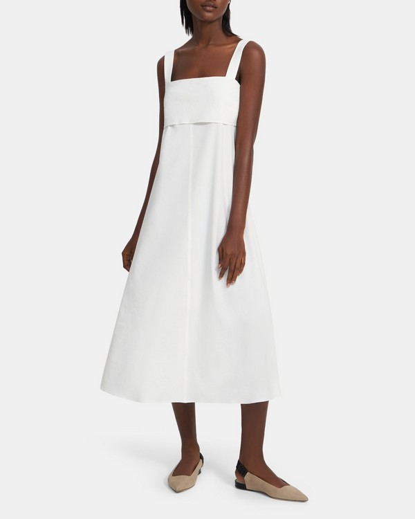 Tie-Back Dress in Good Linen