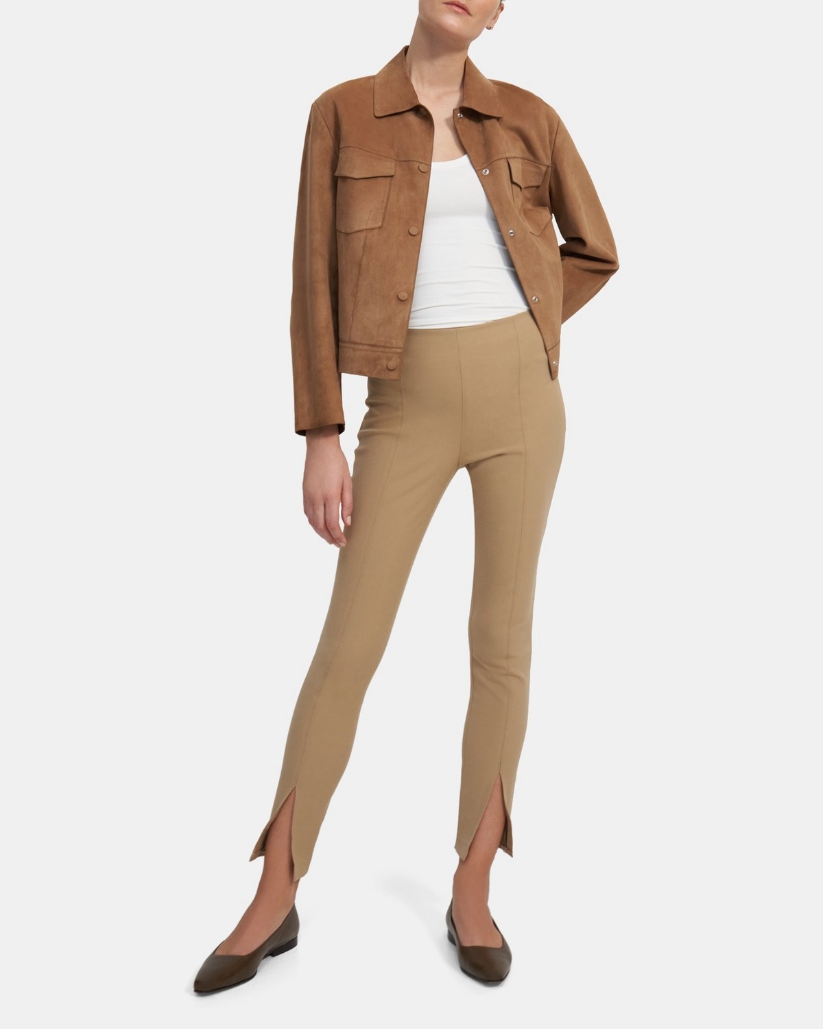 Slit Legging in Eco Stretch Cotton