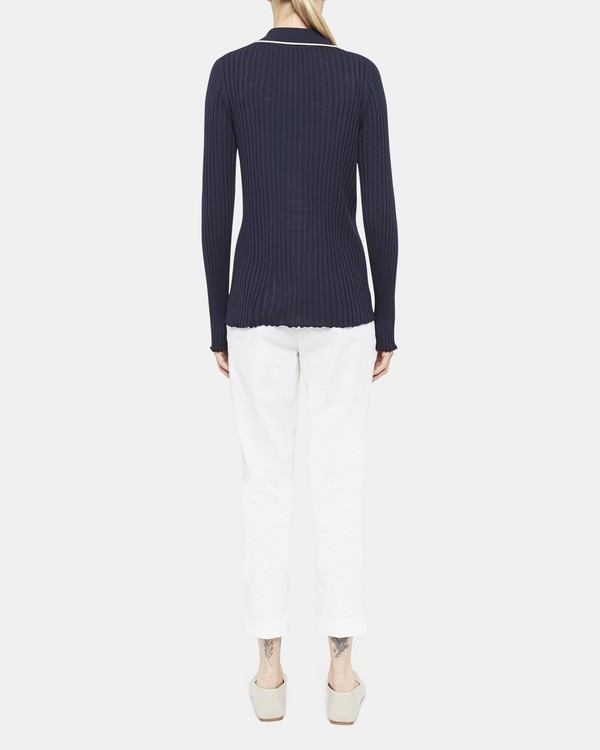 Button-Down Shirt in Regal Wool