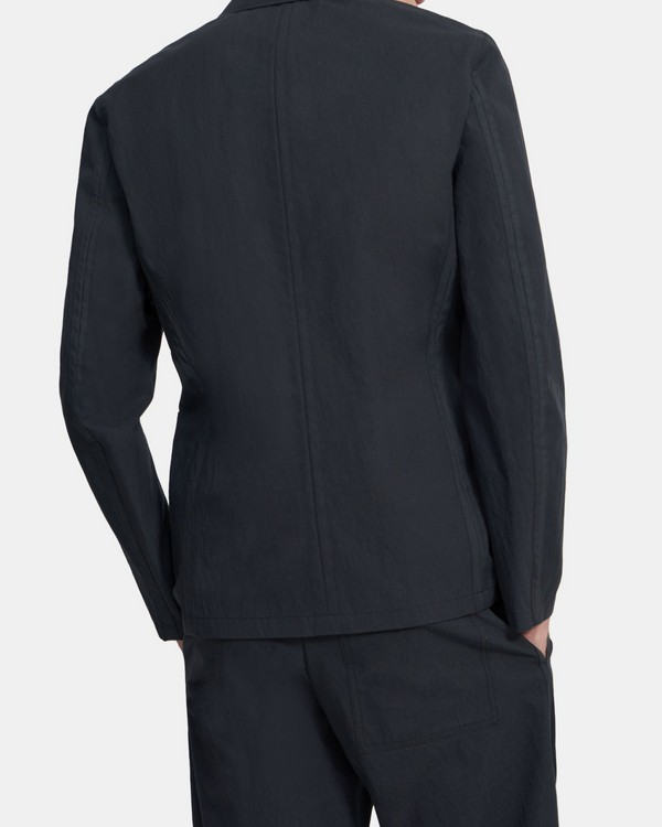 3-Button Clinton Blazer in Combat Gabardine