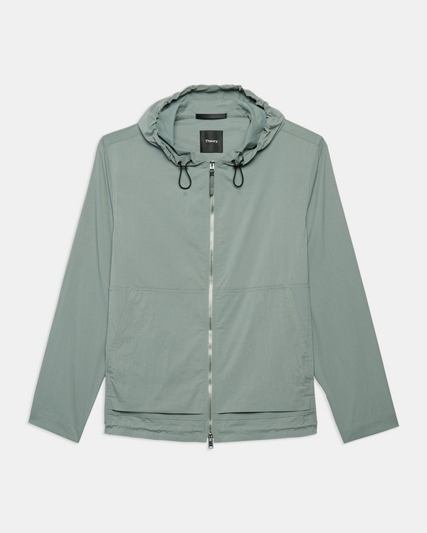 Packable Jacket in Piqué Nylon