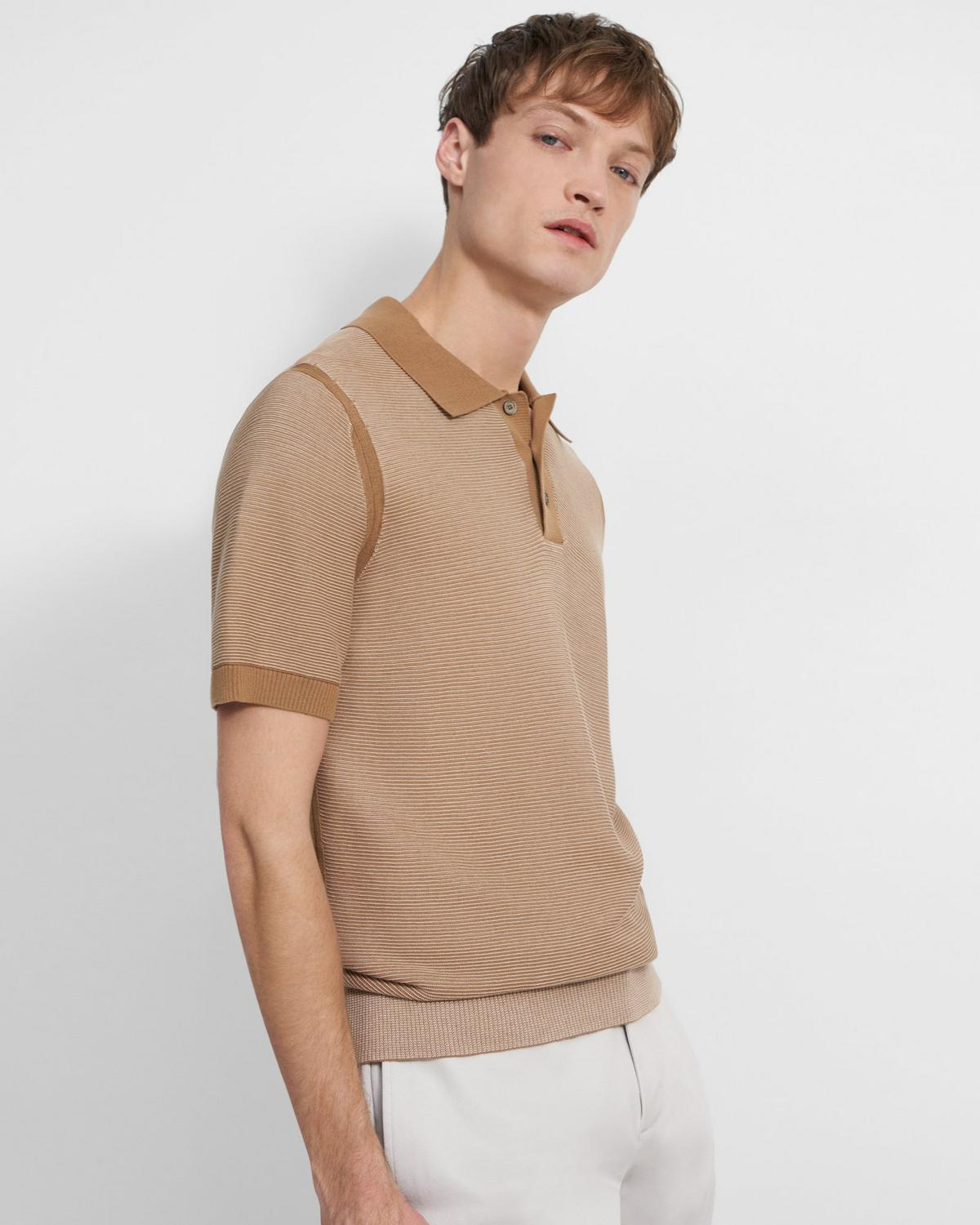Striped Polo Shirt in Organic Cotton