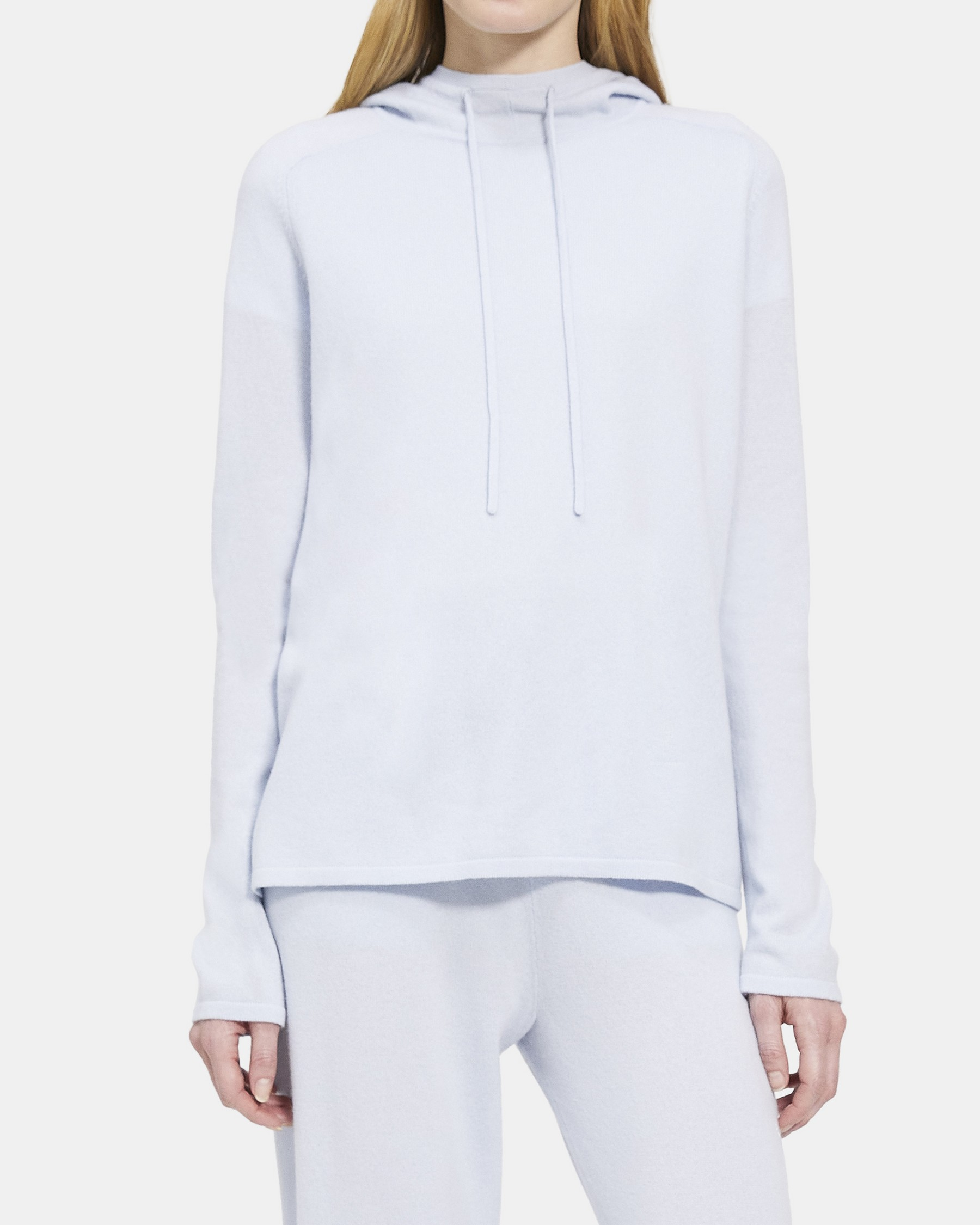 Mockneck Hoodie in Cashmere   Theory